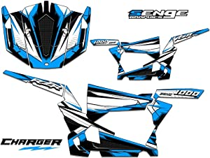 Compatible with Polaris 2013-2016 RZR 1000 XP Charger Sky Blue Graphics kit