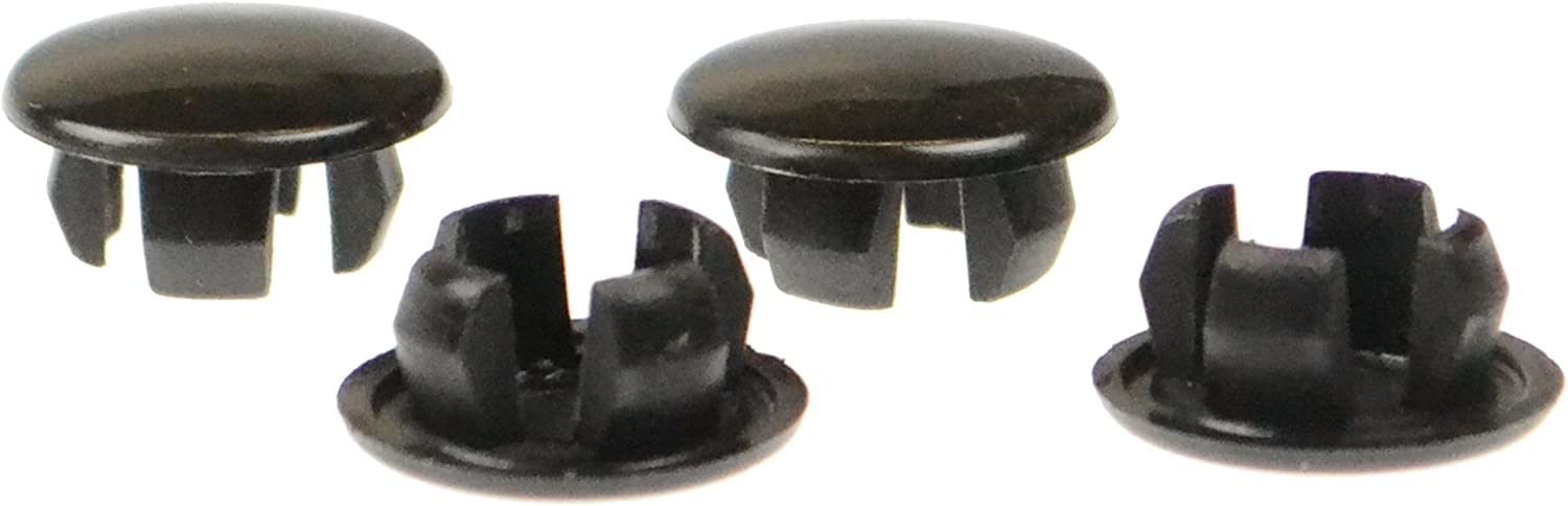 Black Velvac 748329 RND Screw Cap Covers for Exterior Mirror Assembly 4 Pack