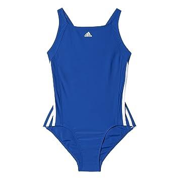 adidas Mädchen Infinitex Essence Core 3 Stripes Badeanzug