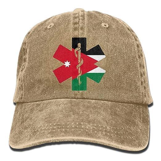 3fe09db4 Image Unavailable. Image not available for. Color: Flag of Jordan EMT  Unisex Baseball Cap Cowboy Hat Dad Hats Trucker ...