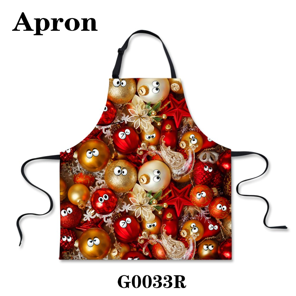 Bigcardesigns Christmas Gift Polyester & Cotton Bib Apron Unisex