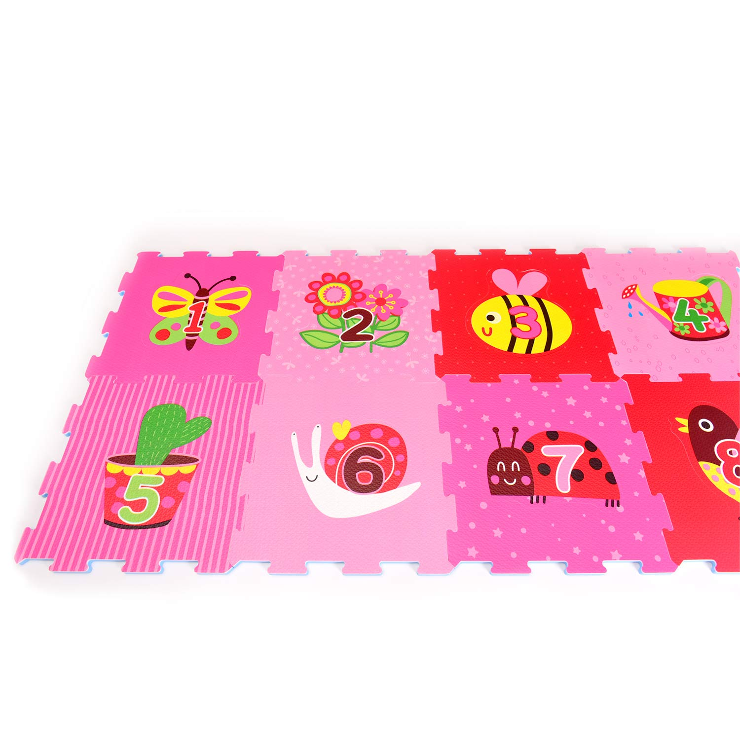 Kids Lovely Garden Rubber EVA Foam Puzzle Play mat Floor Ideal: Crawling Baby Toddler Tile:12X12 Inch//9 Sq.feet Coverage 9 Interlocking playmat Tiles Gym Workout time Infant Classroom