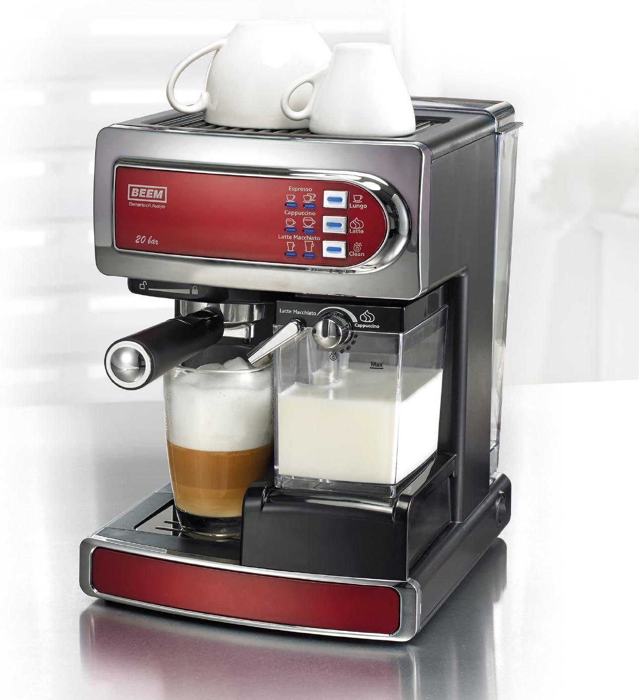 BEEM Germany D2000540 - Cafetera automática, color rojo: Amazon.es ...