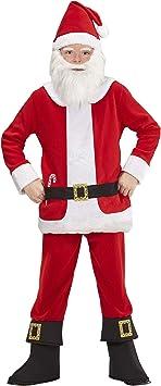 Childrens BABBO NATALE COSTUME BABBO NATALE VESTITO 116cm