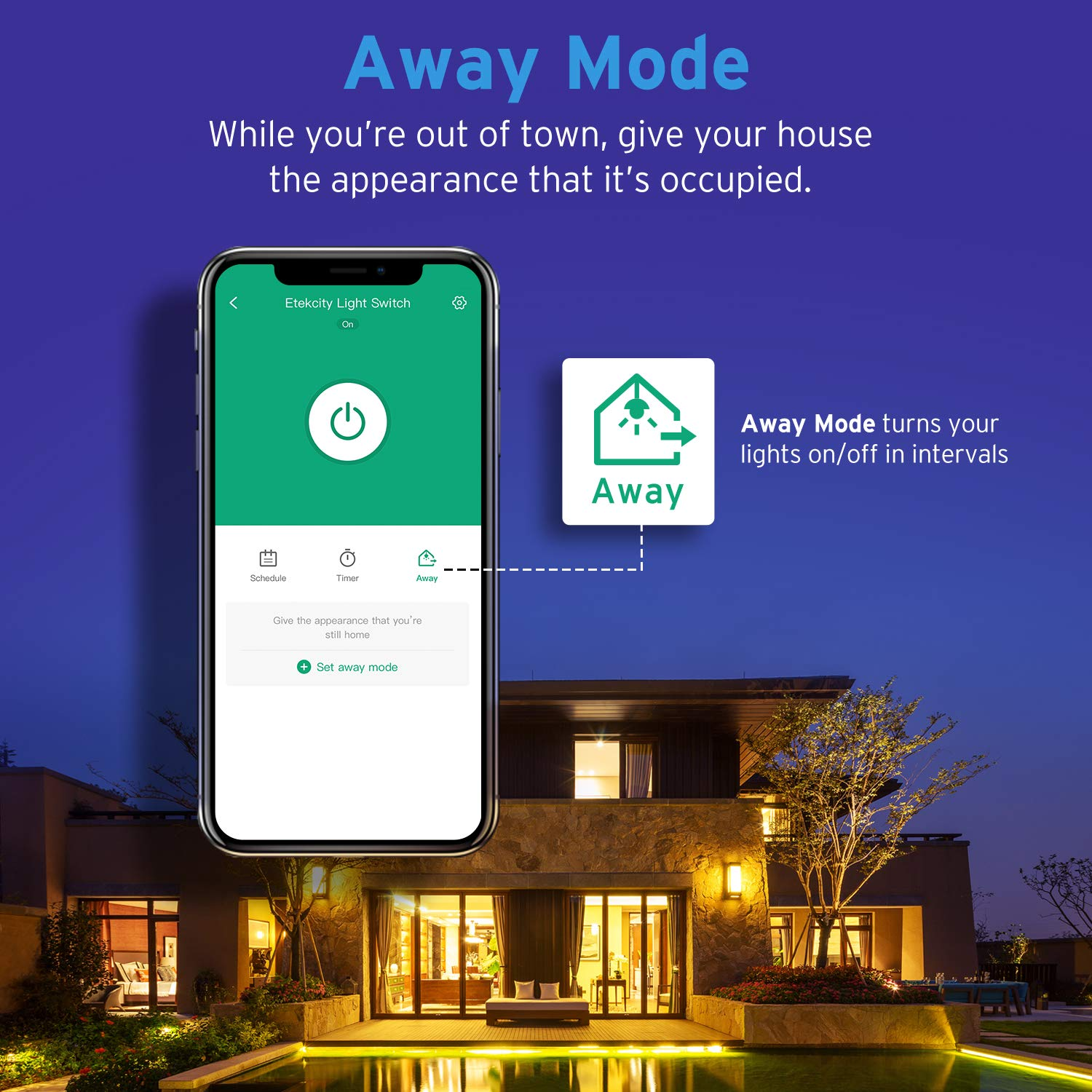 Etekcity Smart WiFi Light Switch, Wireless Remote Control from Anywhere, Schedule Your Home, No Hub Required, Works with Alexa and Google Home, Single Pole Only, White, 15A/1800W, ETL Listed by Etekcity (Image #8)