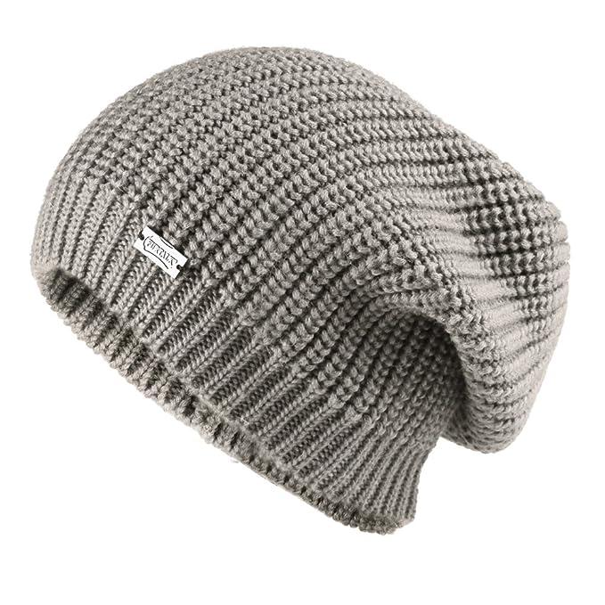 6190c07bc27 FURTALK Women Girls Merino Wool Slouchy Knit Beanie Hat Winter Crochet Cap