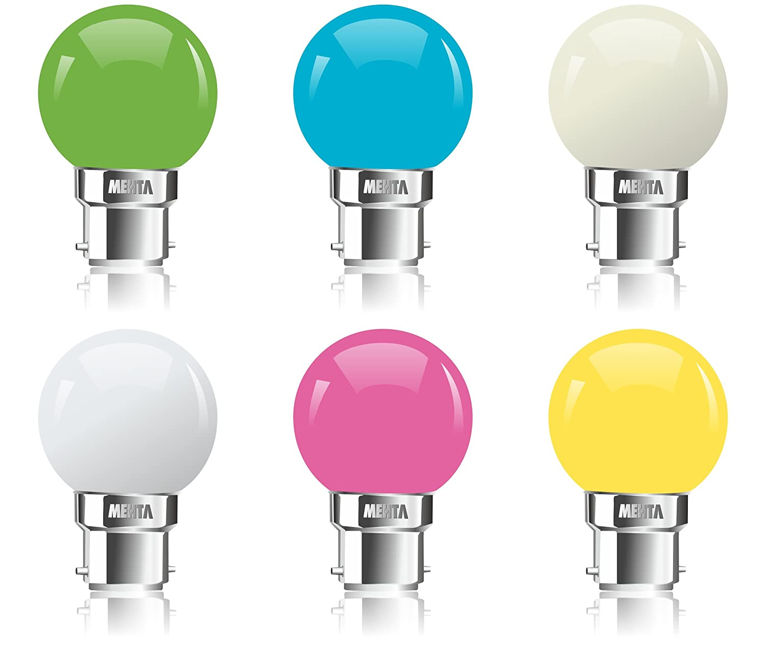 Buy Mehta Empower India Zero Watt Led Night Lamp Blue Green White Warm White Pink Yellow 11015 Online At Low Prices In India Amazon In
