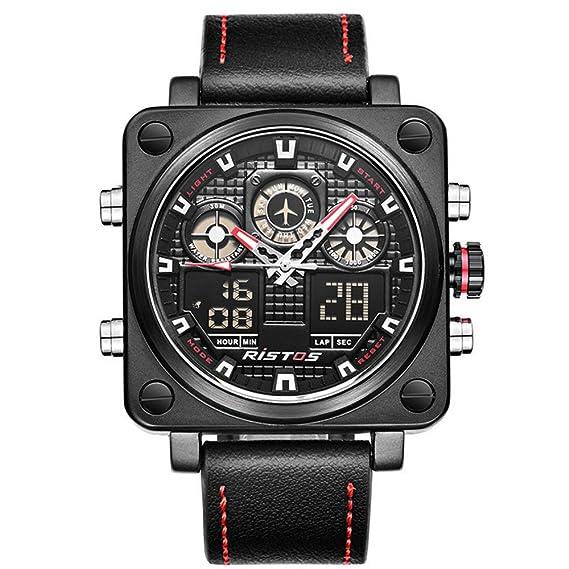 Reloj Digital de Pulsera para Hombre Reloj de Vestir Reloj de Moda Reloj Deportivo Calendario de