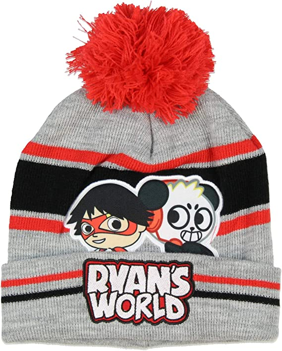 Ryans World Kids Ryan and Combo Panda Gloves Scarf And Pom Beanie 3 Piece Set