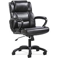 The HON Company BSXVST305 Sadie Leather Executive Computer/Office Arms-Ergonomic Swivel Chair (HVST305), Black