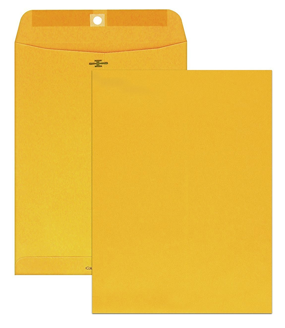 Columbian Clasp Envelopes, Brown tycUZ Kraft, Clasps, 9 x 12-Inch 100 Count (5 Pack)