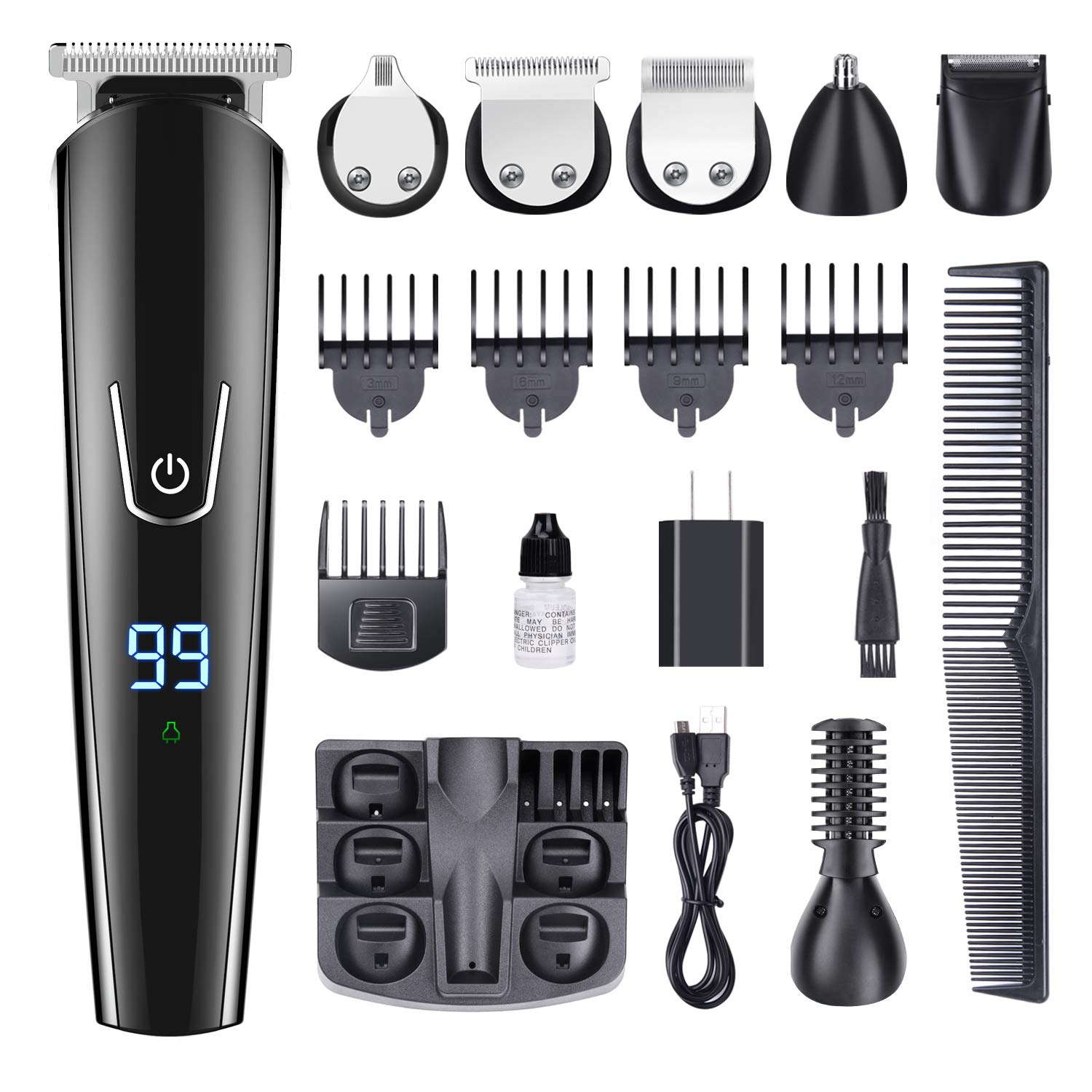 11 In 1 Muti-Functional Grooming Kit, Cordless Men's Beard Trimmer Hair Trimmer Kit