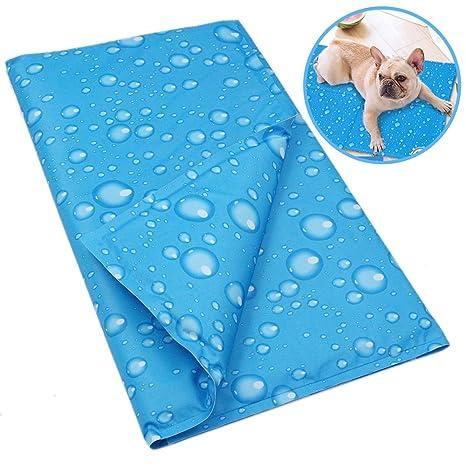 JunBo Alfombrilla Refrigeración para Perros y Gatos, Estera de Enfriamiento para Mascotas Impermeable y Repelente