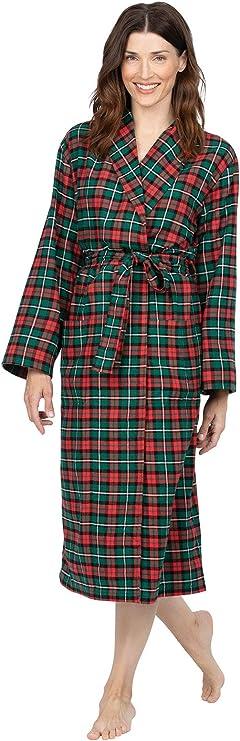 Details about  /Women/'s Winter Soft Flannel Thicker Warm Nightgown Bathrobe Robe Dressing Gown