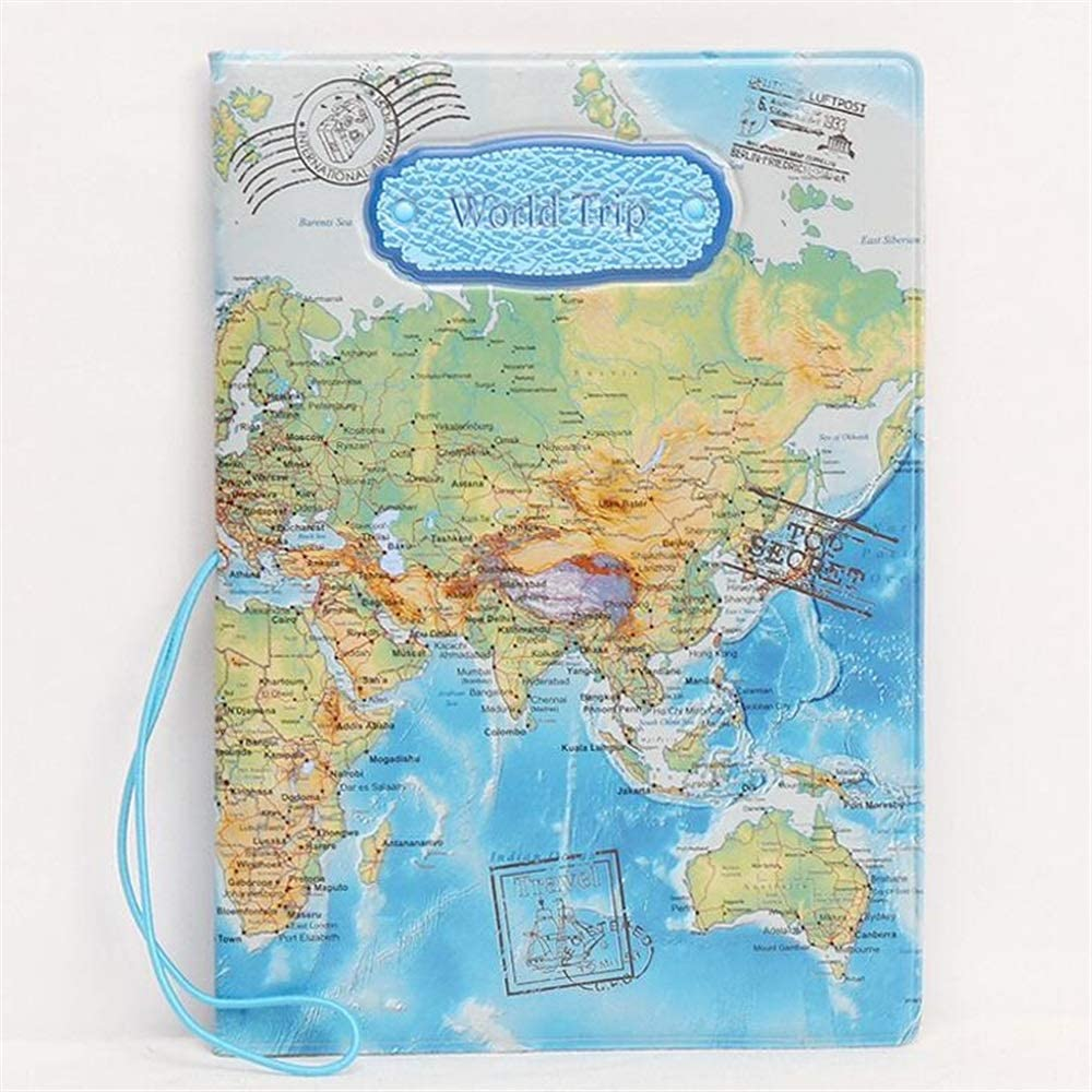 DALAI World Vintage Travel Passport Cover Holder Protector
