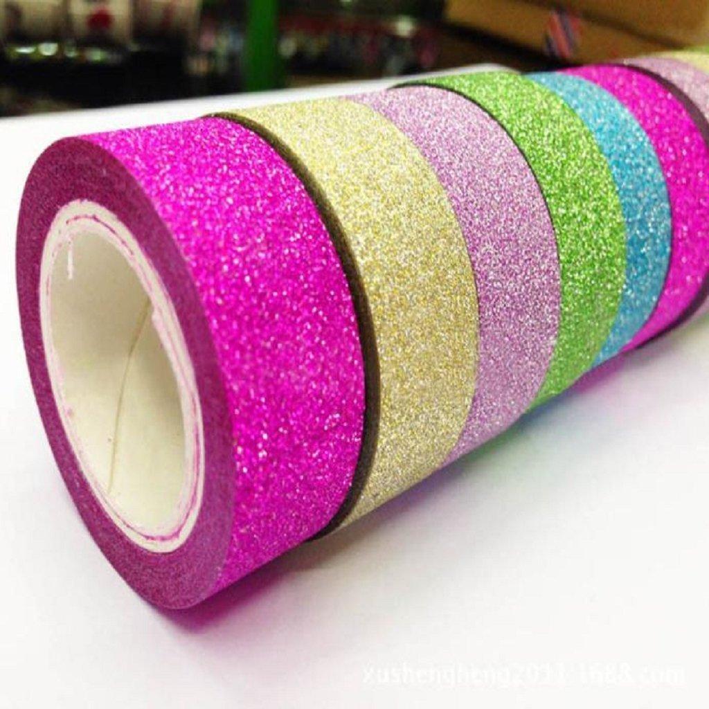 Mikey Store 5pcs Decorative DIY Tape Washi Sticky Paper Masking Adhesive Decorative Tape Scrapbooking 5x Washi Sticky Paper Masking Adhesive Decorative Tape Scrapbooking Paper Roll Tape (A)
