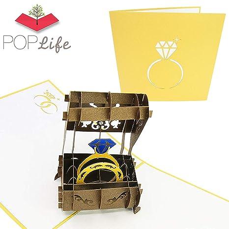 PopLife Cards El anillo de bodas 3d popup tarjetas de felicitación ...