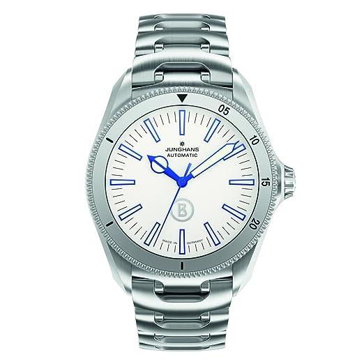 Junghans Bogner Willy Blue Automatlc - Reloj de automático para Hombre, con Correa de Acero Inoxidable, Color Plateado: Amazon.es: Relojes