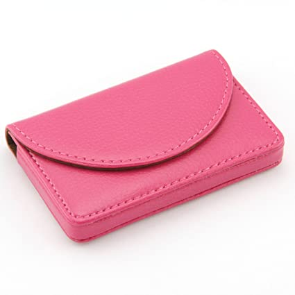 Amazon partstocktm women leather business name card wallet partstocktm women leather business name card wallet holder 25 cards 39l colourmoves