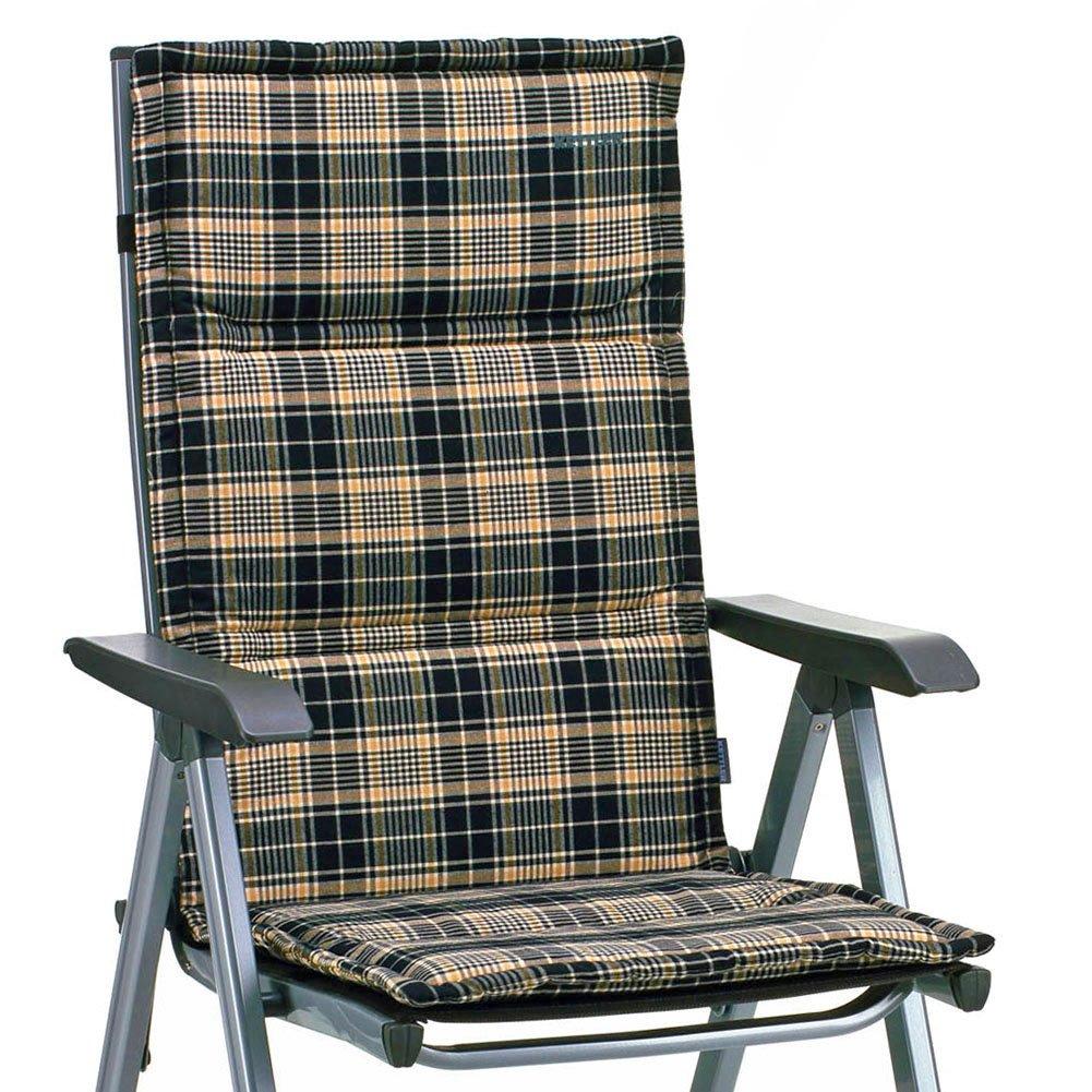 4 KETTLER Dessin 776 – Cuscino per sedia pieghevole in Nero a quadretti (senza sedia)