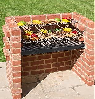 Construido en - parrilla de barbacoa y horno con horno y ...