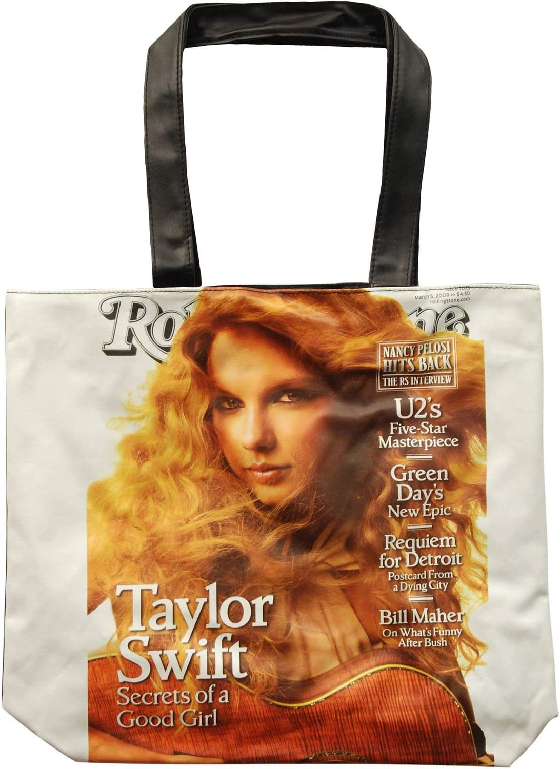 Amazon Com Taylor Swift Tote Bag Purse Rolling Stone Magazine Cover Toys Games