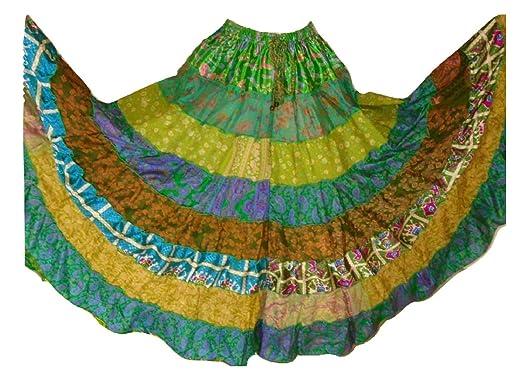 1 - 7 Yard Tribal Gypsy Maxi Tiered Falda Belly Dancing Faldas ...