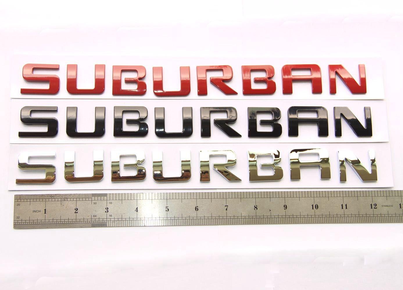 Yoaoo/® 1x OEM Chrome SUBURBAN Nameplate Emblem Alloy Letter Badge for Gm 07-16 SUBURBAN Chevrolet Glossy Shiny