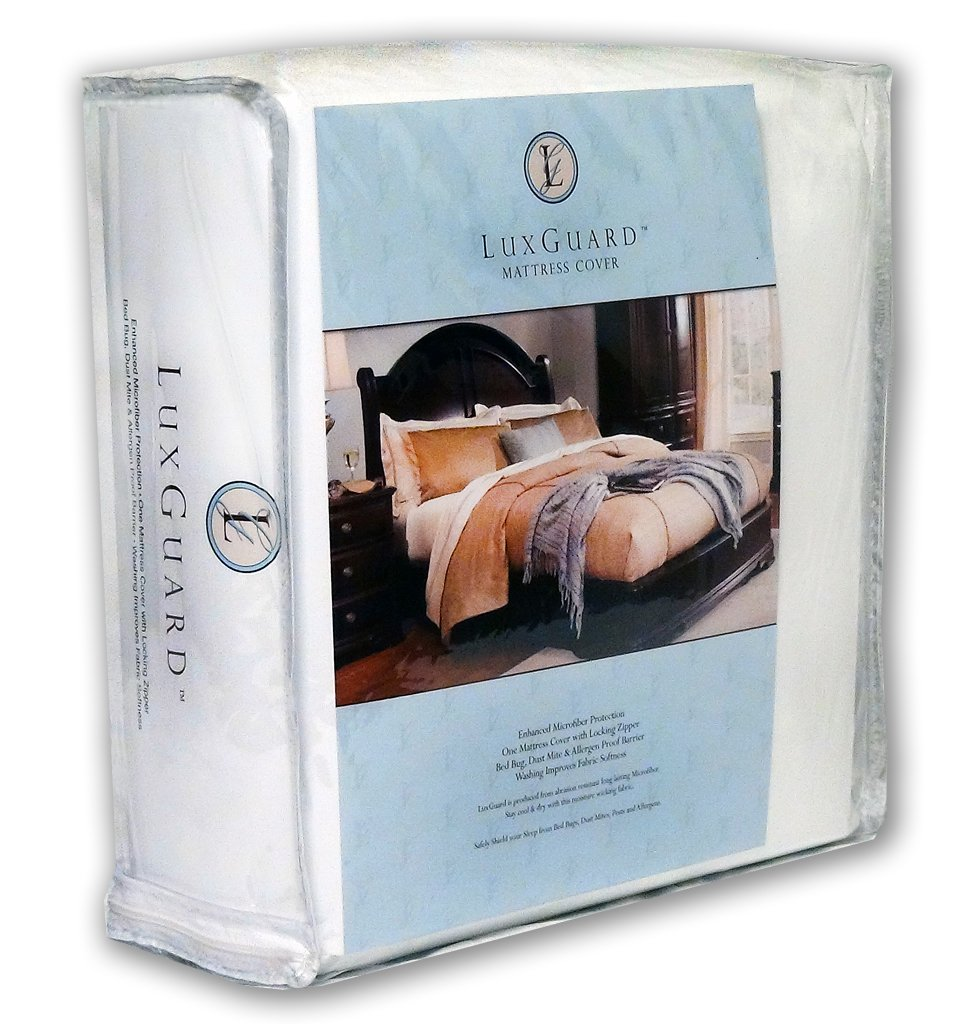 LuxGuard Mattress ZipCover - DOUBLE - encasement for allergens, bedbugs,  dust mites- Size: 137x191x22 cm - DOUBLE Double / Full white: Amazon.co.uk:  Kitchen ...