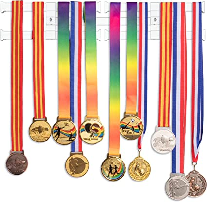 Femeli Medal Display Hanger Holder Bib Award Medal Rack for Running Race Sports Gymnastics Marathon
