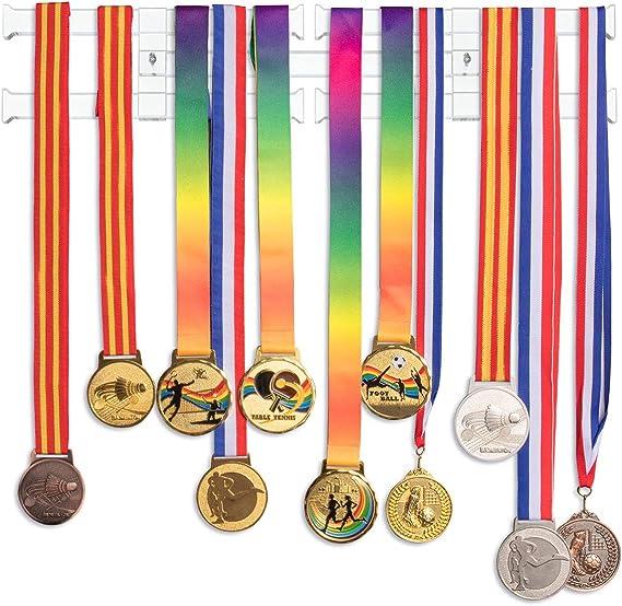 GENOVESE Womens Gymnastics Medal Hanger,Trophy Holder for Gymnasts,Medals Hangers for Sports,Matte Black Metal Display Rack