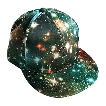 Gorras Beisbol ❤️Amlaiworld Hombre Mujer Sombrero de Snapback Plano al Aire Libre Flor Hip-