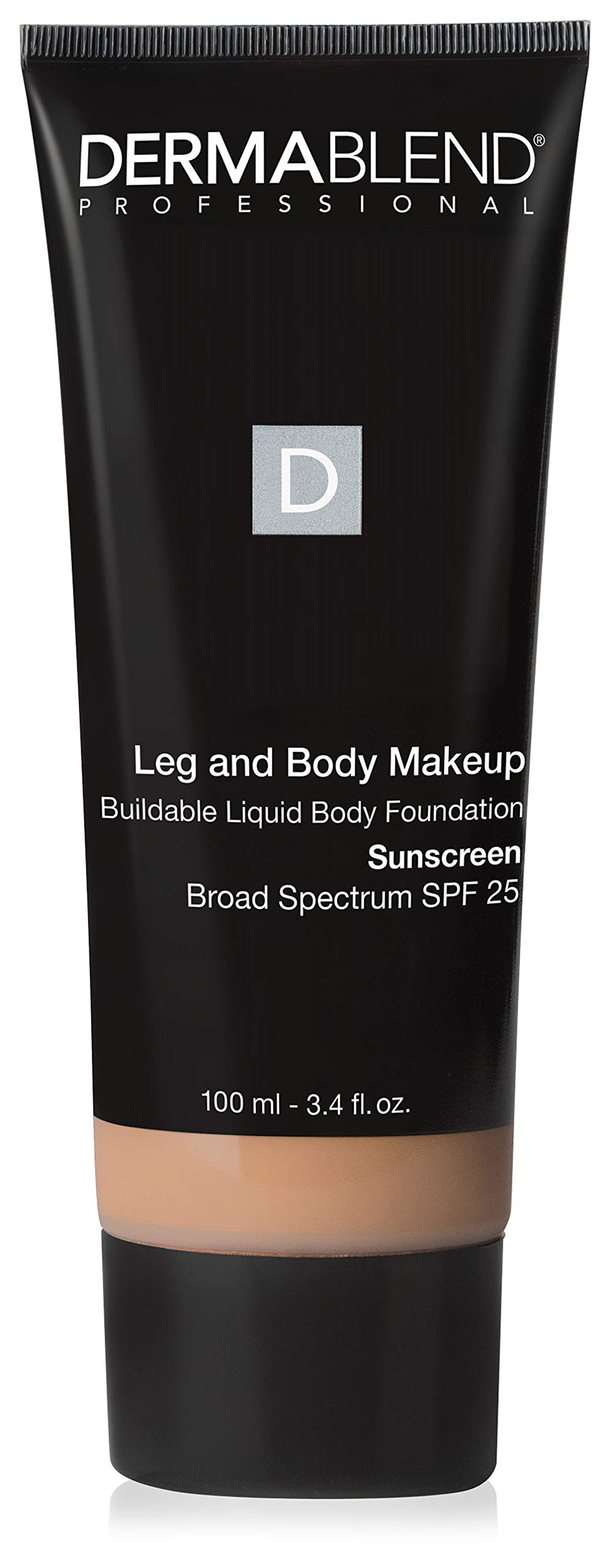 Dermablend Leg and Body Makeup, with SPF 25. Skin Perfecting Body Foundation for Flawless Legs with a Smooth, Even Tone Finish, 3.4 Fl. Oz.
