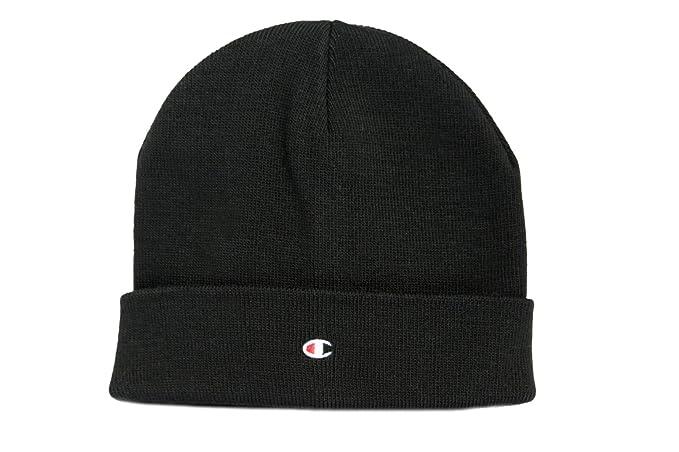 Champion Cappello NERO. Berretto di Lana. Beanie. Pratica vestibilità.  Dettaglio del design 050c7192844f