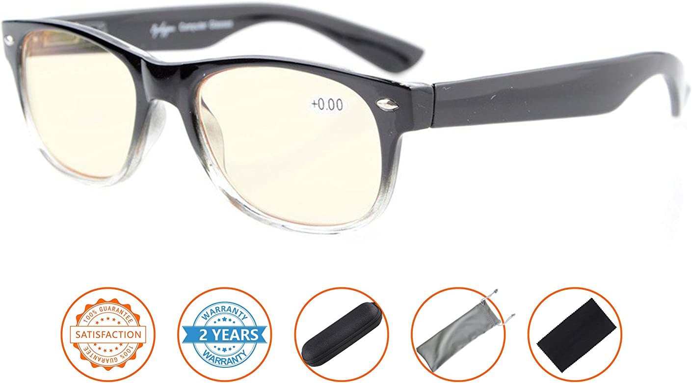 Blue Light Filter UV Protection Classic Eyeglasses Computer Reading Glasses