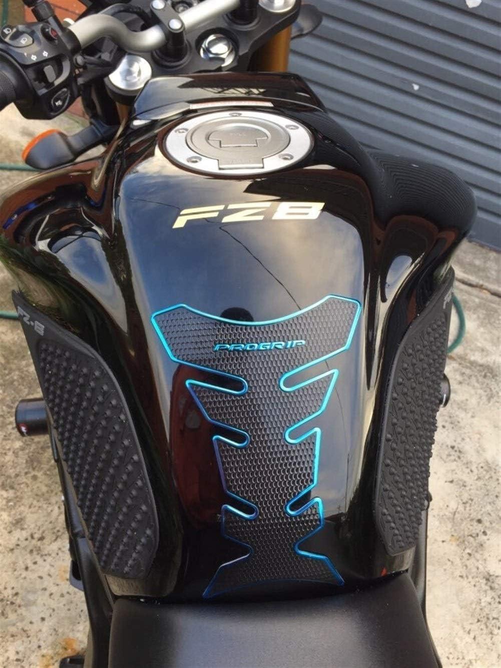 3PC 3D Motorcycle Tank Pad Protector Sticker Case for Honda CBR 600 900 Yamaha MT01 MT03 MT07 MT09 FZ1 FZ6 Kawasaki Z750 Z800 Color : Black