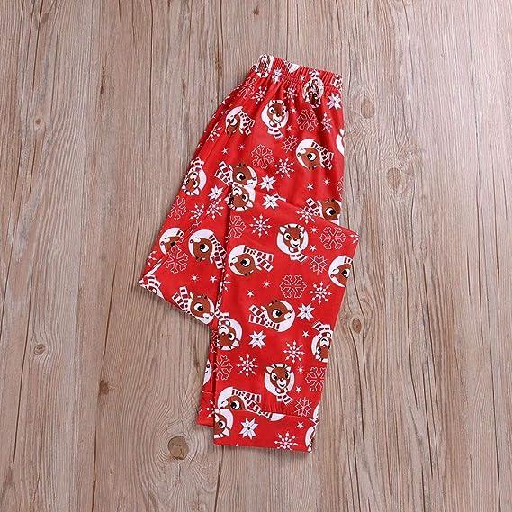 Pijamas de Navidad Familia Conjunto Pantalon y Casual Camisa ...