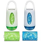 Munchkin Arm and Hammer Diaper Bag Dispenser, Green/Blue, 2 Pack