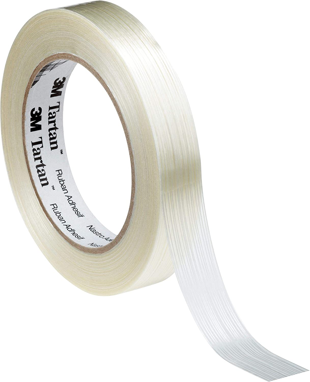 3 M adhesiva, 8953/2550 Tartán filamento cinta adhesiva, M transparente (36 unidades) 428655