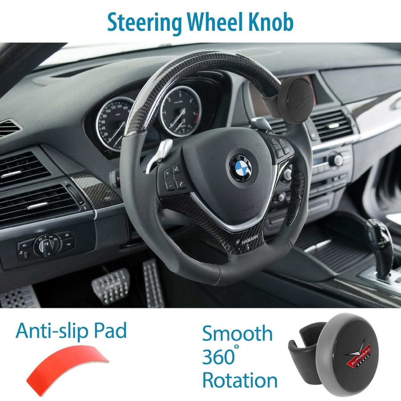 Amazoncom Steering Wheel Spinner By Automuko Silicone Power
