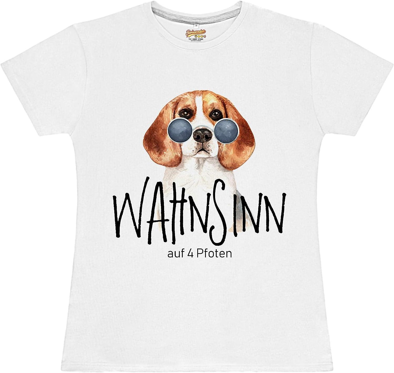 Deutscher Schäferhund Wahnsinn 4 Pfoten DAMEN T-SHIRT Motiv by SIVIWONDER