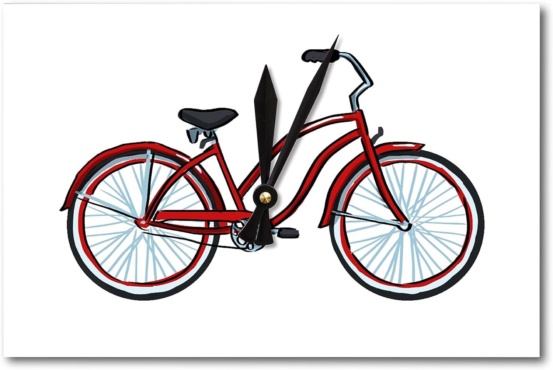 Reloj de pared para bicicleta de playa Cruiser – ICONO (acrílico): Amazon.es: Hogar