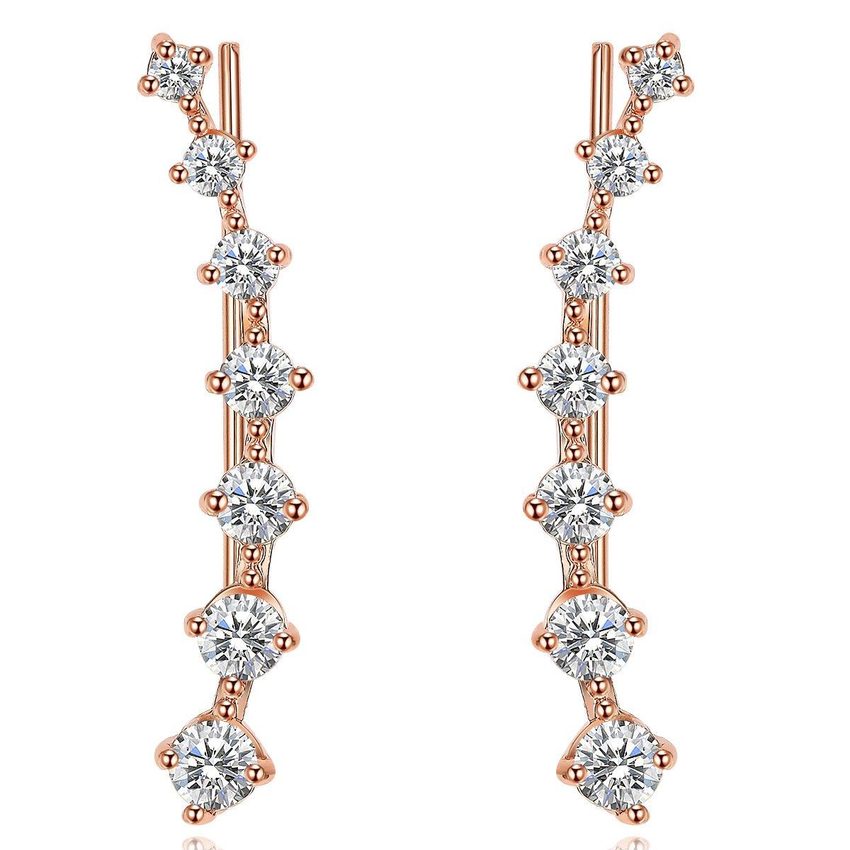 UMODE Jewelry Cartilage Tragus Bar Each with 7 Tiny Cubic Zirconia CZ Diamond Wrap Ear Cuff Earrings For Women yiwu xilin trading company ltd. UE0197ACA