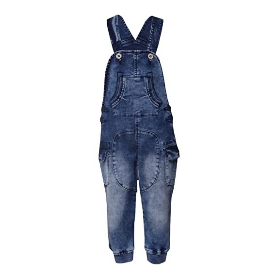9f45227bed2 Tales   Stories Girls Blue Denim Dungaree  Amazon.in  Clothing   Accessories