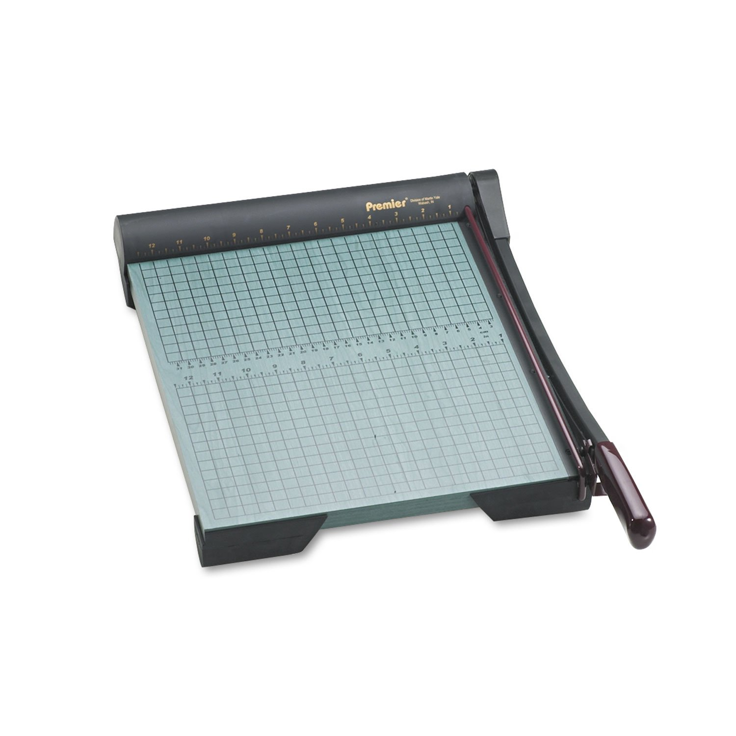 Premier W15 The Original Green Paper Trimmer, 20 Sheets, Wood Base, 13-Inch x 17 1/2-Inch by Premier
