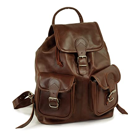 0edb9d718aaa Medium sized leather backpack   city bag size M made out of oiled leather