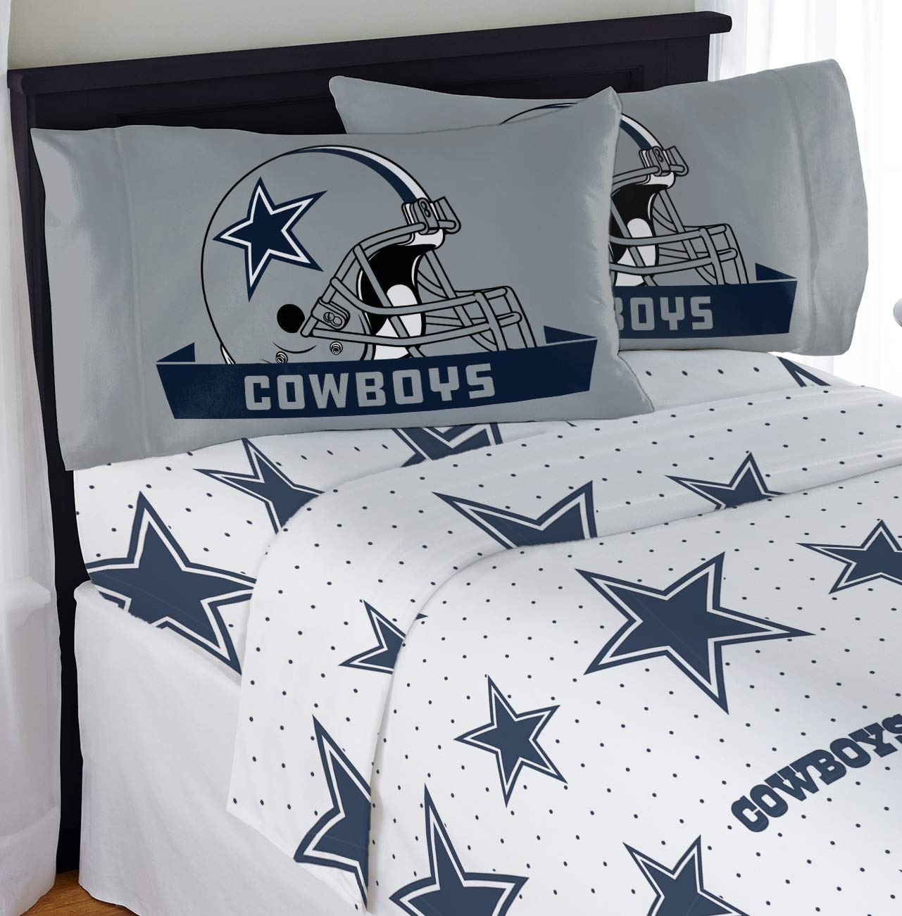 Northwest NFL Dallas Cowboys ''Monument'' Queen Sheet Set #464070571 by Northwest