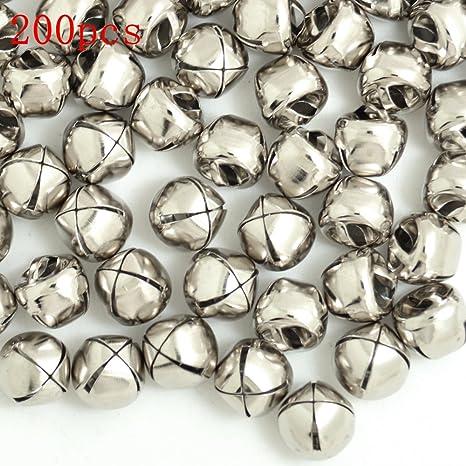 100pcs 12mm Jingle Small Bells Christmas Xmas Wedding Decoration Beads Jewelry