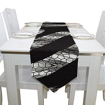 Amazon.com: savsv 13 x 70 inch tela camino de mesa manteles ...