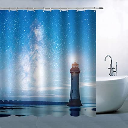 Image Unavailable Not Available For Color BCNEW Lighthouse Shower Curtain